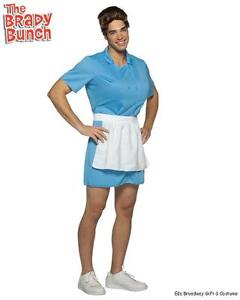 Mens Adult THE BRADY BUNCH Funny Alice For Guys Costume