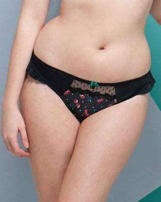 Brand New Curvy Kate Cherie Thong Black Cherry Print CK4202 VARIOUS SIZES