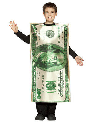 Child Hundred Dollar Bill Costume - 7-10](Dollar Bill Costume)