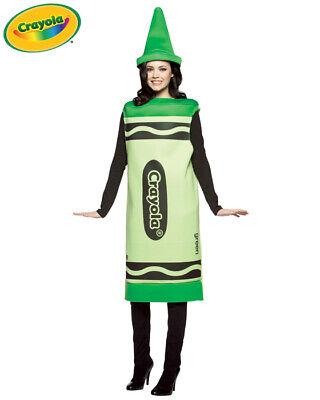 Adult Crayola Crayon Costume - - Green Crayon Kostüm