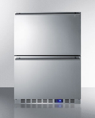 Summit Scff532d 24  2 Drawer All Freezer Stainless Steel Frost Free