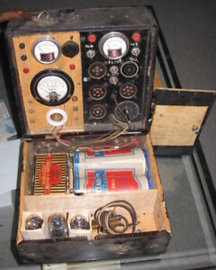 Vintage tube checker, parts only