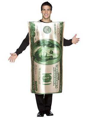 Adult Hundred Dollar Bill Costume](Dollar Bill Costume)