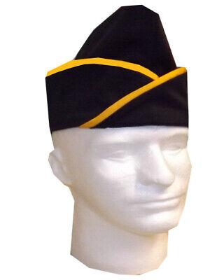 Black And Yellow Garrison Chef Hat Kitchen Chef Garrison Hat Garrison Chef Hat