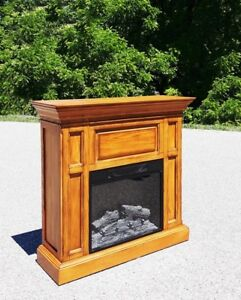 Oak Fireplace with Twin Star Insert