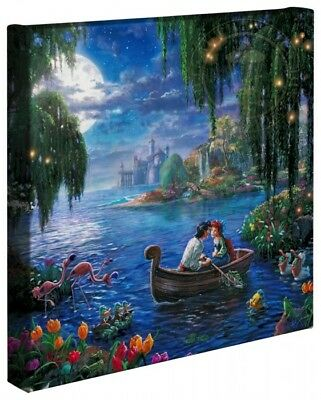 Thomas Kinkade Little Mermaid II Wrap 14 x 14 Gallery Wrap Canvas Disney