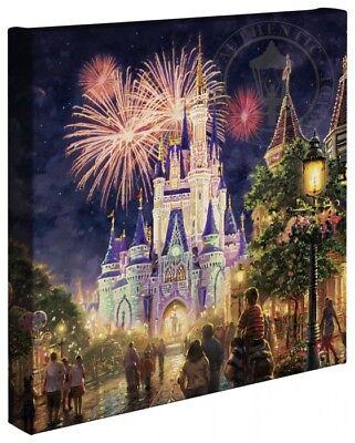 Thomas Kinkade Studios Main Street USA 14 x 14 Gallery Wrap Walt Disney World