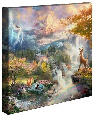 Thomas Kinkade Bambi's First Year 14 x 14 Wrapped Canvas Disney