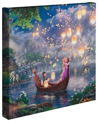 Thomas Kinkade Tangled 14 x 14 Wrapped Canvas Disney Wrap