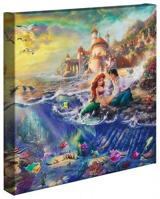 Thomas Kinkade Wrap Little Mermaid 14 x 14 Wrapped Canvas Disney Ariele
