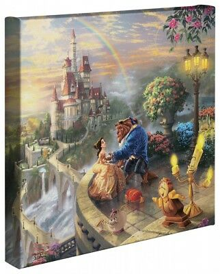 Thomas Kinkade Wrap Beauty and the Beast 14 x 14 Canvas Wrap Disney
