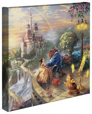 Thomas Kinkade Wrap Beauty and the Beast 14 x 14 Canvas Wrap Disney (Disney Wrap)
