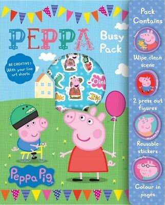 Peppa Pig Busy Pack Childrens Activity Stickers Stocking Filler - Sticker Activity Pack