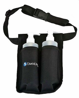 Earthlite Double Massage Oil & Lotion Holster - 2 x 8 Oz Pump Bottles Included