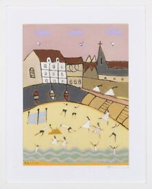 Superb Original Painting titled 'Harbour Church, Robin Hoods Bay, Yorkshire' (2014) by David Barrow