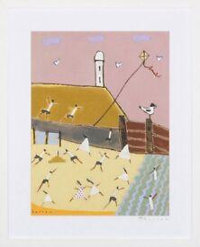 Superb Original Painting titled 'Lighthouse, Flamborough Head, Yorkshire' (2014) by David Barrow