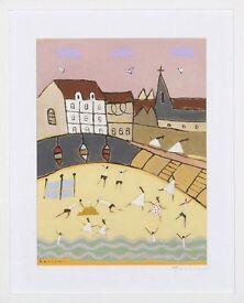 Harbour Church (2002) by David Barrow (Original Acrylic Painting)