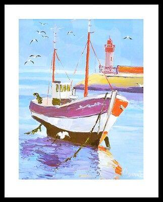 Cenanne Peinture de CEDANNE Poster Bild Kunstdruck im Alu Rahmen schwarz 50x40cm