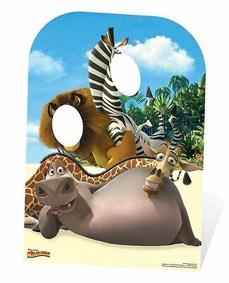 Madagascar Child Size Cardboard Cutout Stand In great for party photos (Photo Stand Ins For Parties)