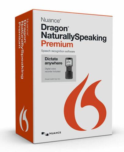 Dragon NaturallySpeaking Premium 13 with Digital Recorder - New Retail Box