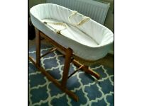 Moses Basket with Stand. New Born Baby
