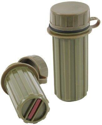 Olive Drab Water Tight Plastic Matchbox Match Stick Waterproof Striking Strip