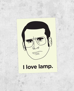 "Anchorman Sticker ""I Love Lamp"" Brick Tamland Steve Carell ..."
