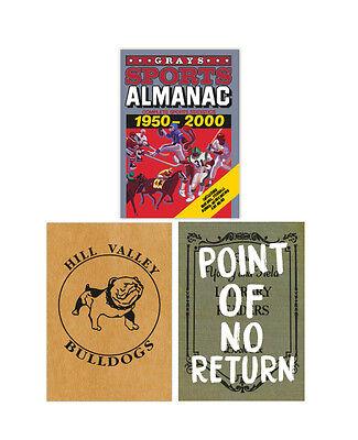 Zurück in die Zukunft Notebook SET! Michael J Fox 1980s Sport ALMANAC Kostüm