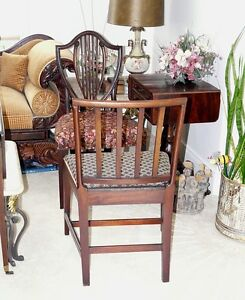 Antique Georgian Square Back Chair, Solid Mahogany Kingston Kingston Area image 3