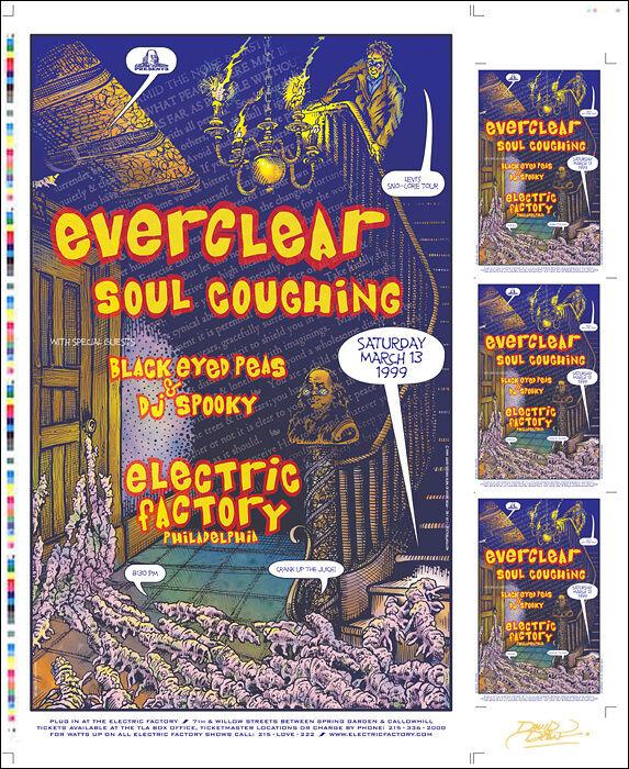 BLACK EYED PEAS Philadelphia Original 99 Uncut Concert Poster Press-Sheet Signed