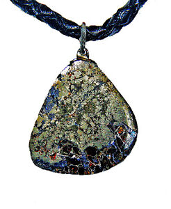 His or Her's  Silver, Pyrite, Zinc& Sphalerite Pendant.For Sale