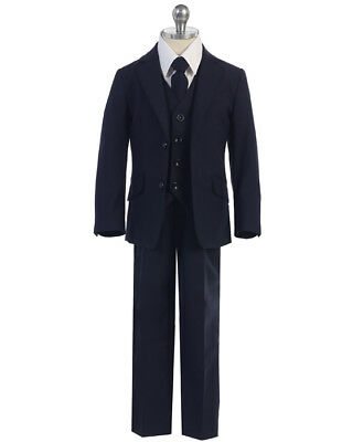 Boys NAVY Suit SLIM FIT TODDLER TEEN Outfit, COMMUNION WEDDING PARTY (SIZE - Communion Suits Boys