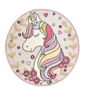 Magic Unicorn Circular Rug 100 x 100 cm