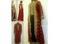 Designer Zainab Chottani Pakistani Indian Ethnic STITCHED Party #Eid Dress UK S