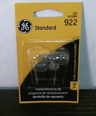 Free Replacement Bulb - GE 922 Minature Standard Replacement Bulb, 12V, 2pk, BP2, FREE SHIPPING