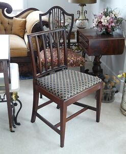 Antique Georgian Square Back Chair, Solid Mahogany Kingston Kingston Area image 4