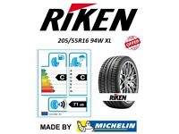 NEW RIKEN 205 55 16 94W XL ROAD PERFORMANCE BY MICHELIN (Price includes Fitting)