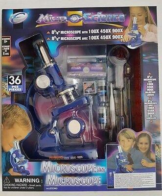 Mikroskop Microskop Set 36 Teile Set für Kinder bis zu 900x Vergrößerung