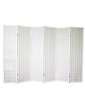 Biombo japonés Shoji de madera blanco de 6 hojas -dimensiones : 175...