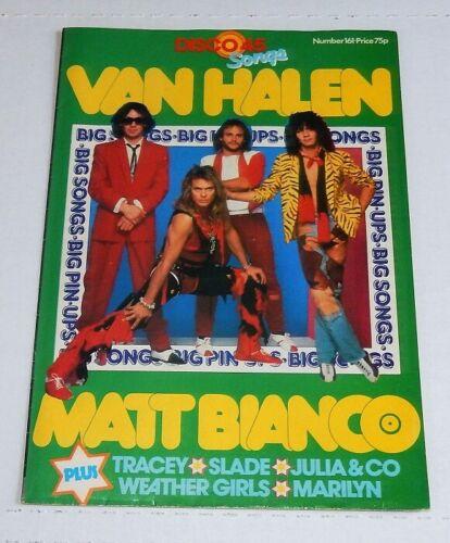 VAN HALEN rare DISCO 45 UK 1984 POSTER MAGAZINE eddie edward DAVID LEE ROTH