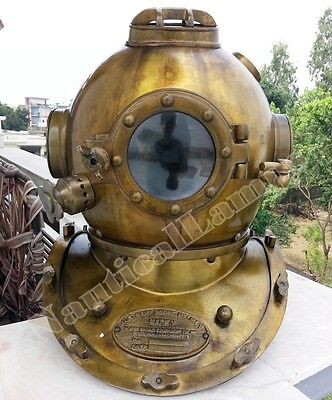 Antique Scuba SCA U.S Navy Mark V Diving Divers Helmet Deep Sea Full Size Diver