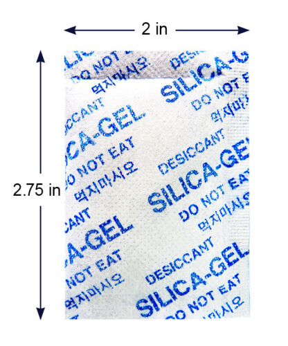 "5 Gram [1000 Pack] ""Dry & Dry"" Silica Gel Desiccant Packets - Rechargeable Cloth"