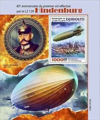 Djibouti 2021 MNH Aviation Stamps Zeppelins LZ 129 Hindenburg 1st Flight 1v S/S