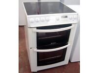 **HOTPOINT**ELECTRIC COOKER**EW83**60CM**DOUBLE OVEN**CERAMIC**COLLECTION\DELIVERY**NO OFFERS**