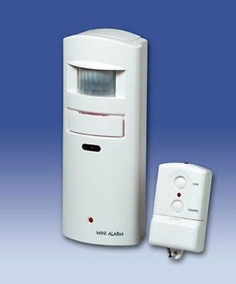 Motion Detector Alarm W/ Remote Control Sensor Key Fob, 1...