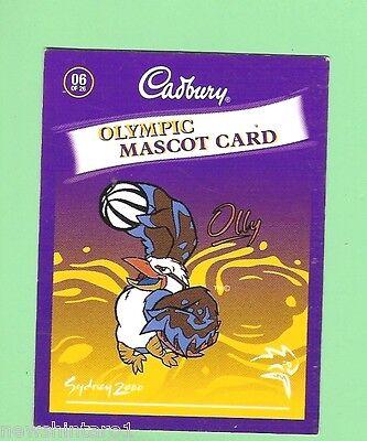 #D67.   BASKETBALL   CADBURY CHOCOLATE SYDNEY OLYMPIC  CARD (Basketball Chocolates)