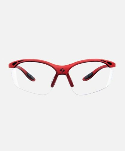 New GEARBOX VISION EYEWEAR RED FRAME CLEAR LENS HARD CASE Racquetball Dealer