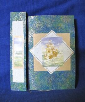 Ship on the Ocean Hand Made Notebook & Bookmark Clifton Beach Cairns City Preview