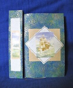 Ship on the Ocean Hand Made Notebook and Bookmark Clifton Beach Cairns City Preview