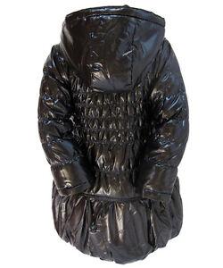 Deux Par Deux Black Shiny Winter Puffer Black Girls Coat Size 8 Stratford Kitchener Area image 5
